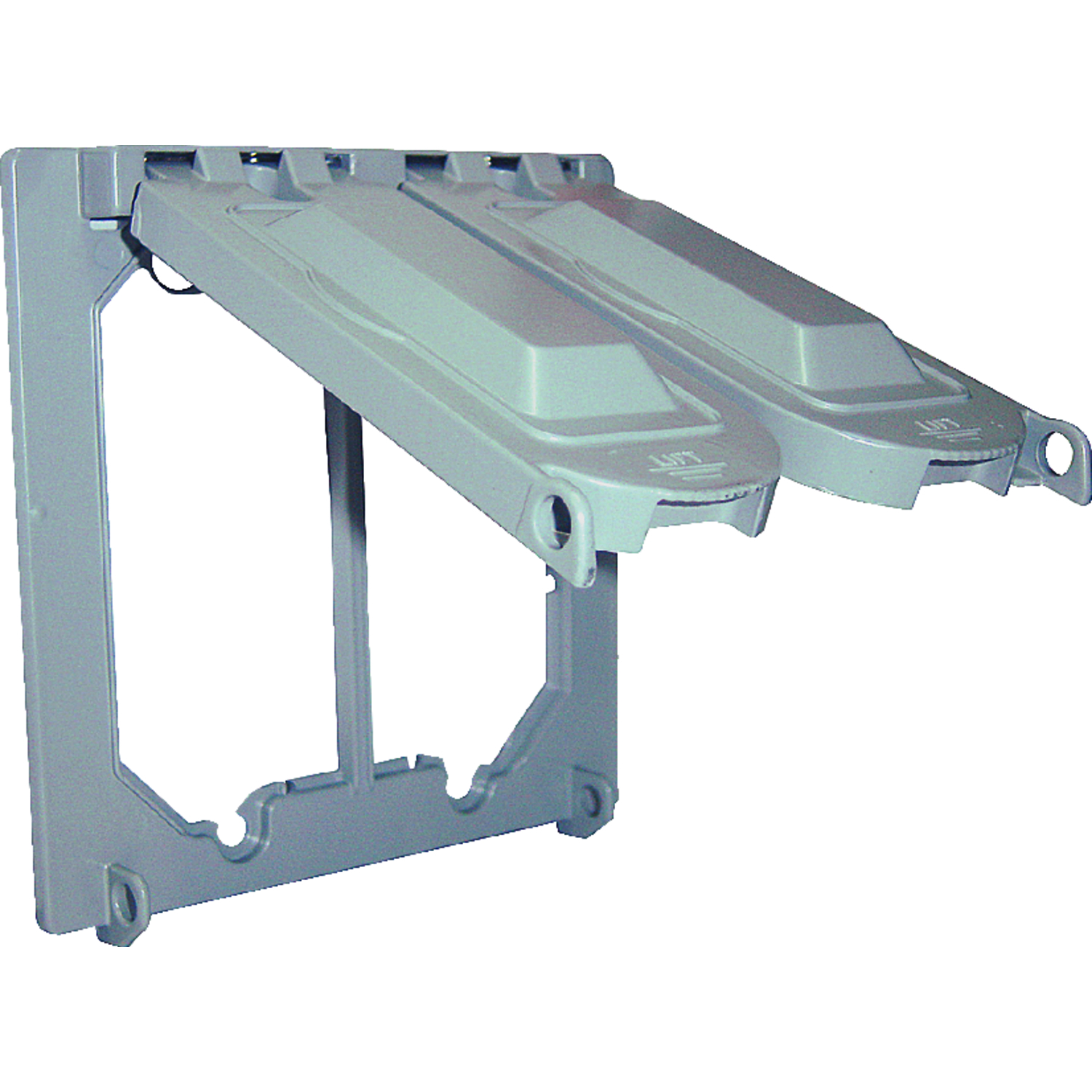 Sigma Square Aluminum 2 gang Weatherproof Cover For Wet Locations ...