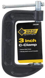 Steel Grip  3   Steel  C-Clamp  Adjustable