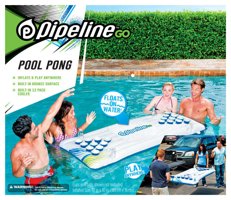 Pipeline Go  White  Plastic  Inflatable Swimming Pool Toy