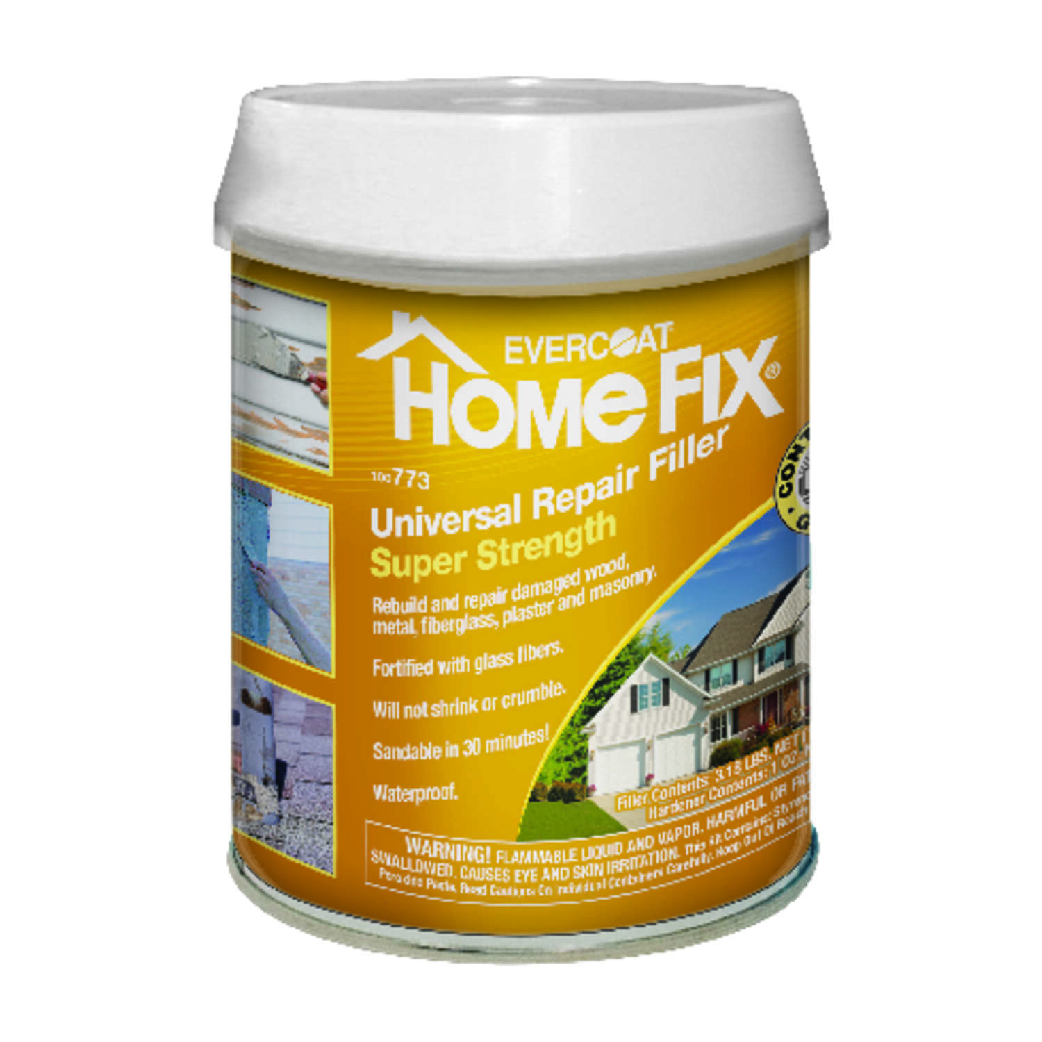 Evercoat  Home Fix  Brown  Universal Repair Filler  1 qt.