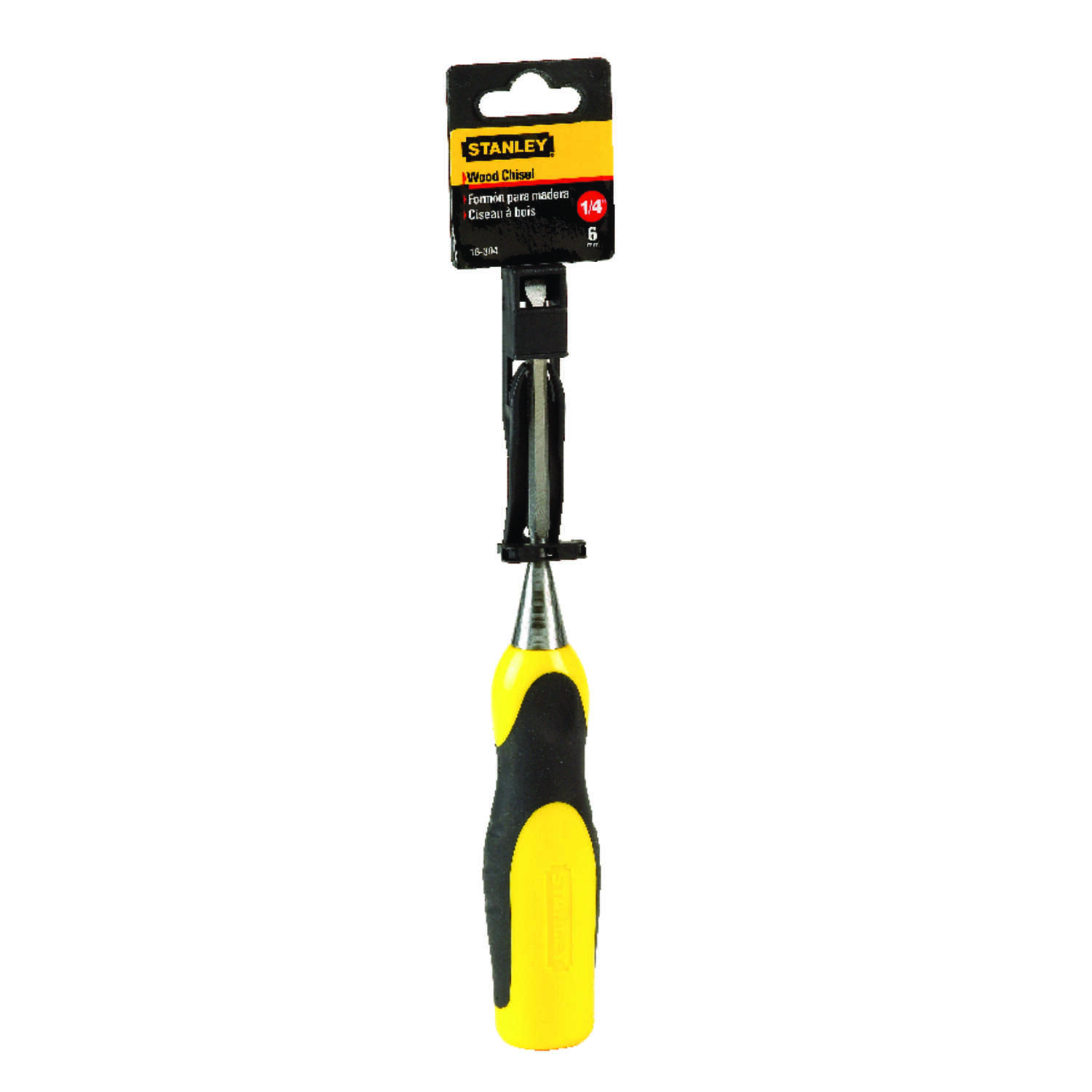 Stanley  1/4 in. W x 9 in. L Steel  Wood Chisel  Yellow  1 each