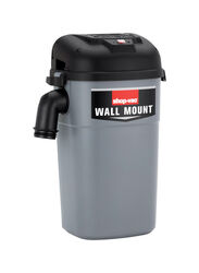 Shop-Vac  5HM400  5 gal. Corded  Wall mount  Wet/Dry Wall Mount Vacuum  8.8 amps 120 volt 4 hp Gray