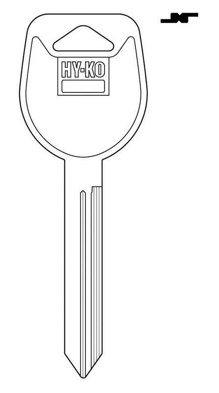 Hy-Ko  Automotive  Key Blank  EZ# MIT6  Double sided For Fits 1999 Galant Ignitions