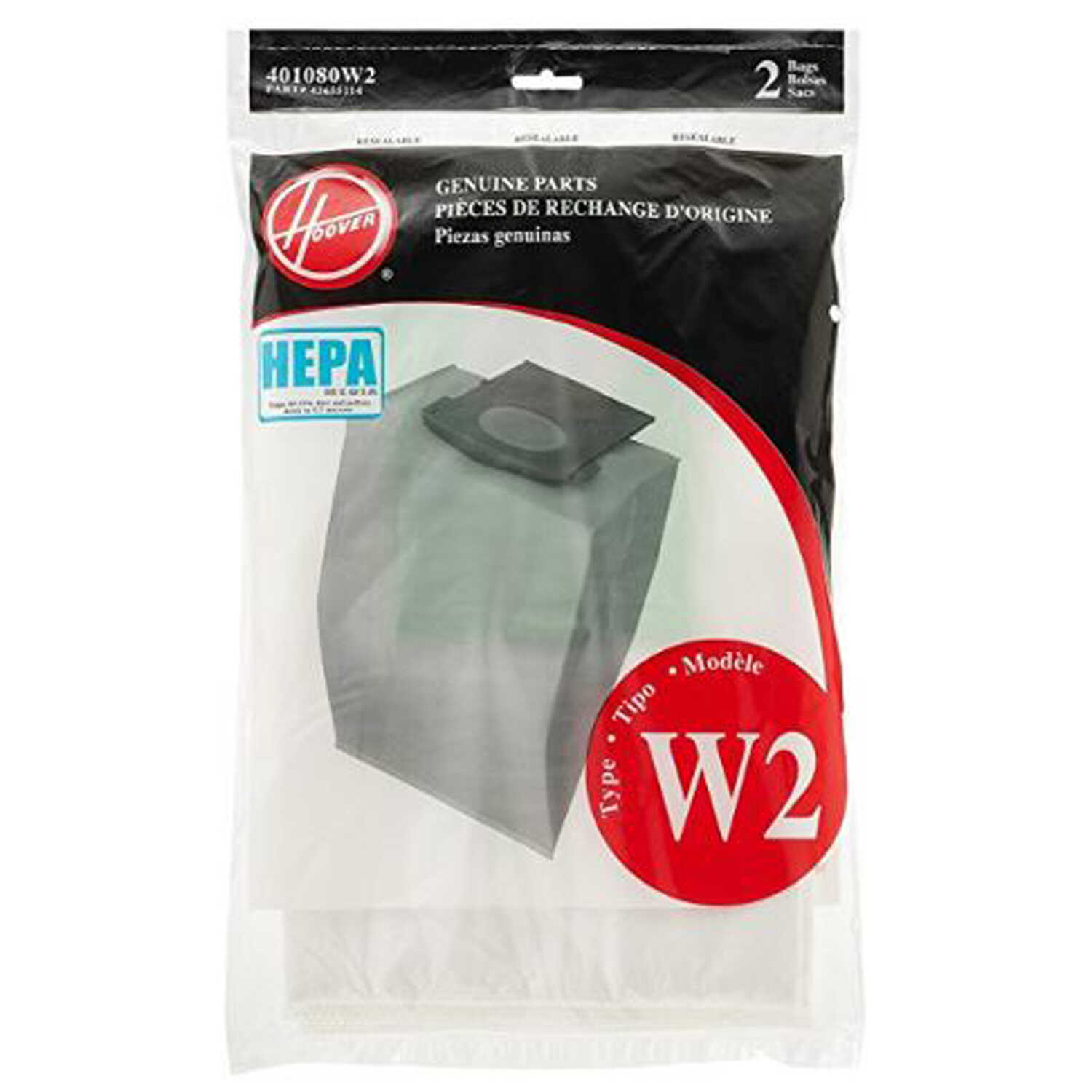 Hoover  Vacuum Bag  For Fits all WindTunnel 2 Bagged Upright Vacuums 2 pk