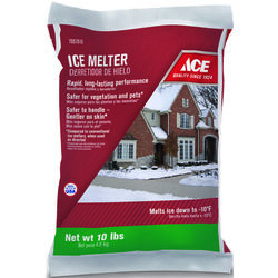 Ace  Sodium Chloride and Magnesium Chloride  Granule  Ice Melt  10 lb.