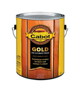 Cabot  Gold  Satin  Sunlit Walnut  Deck Varnish  1 gal.