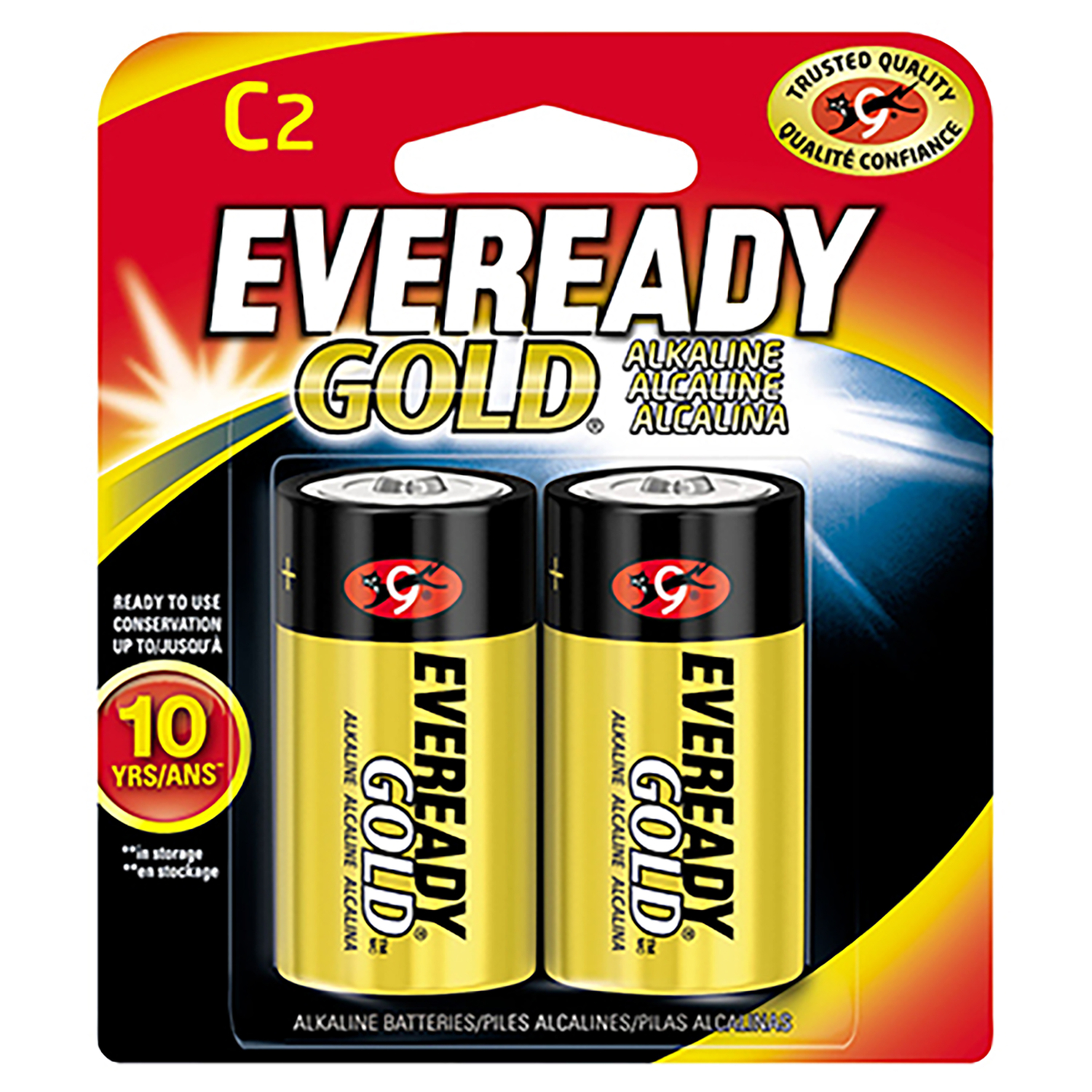 Eveready  Gold  C  Alkaline  Batteries  2 pk Carded  1.5 volts