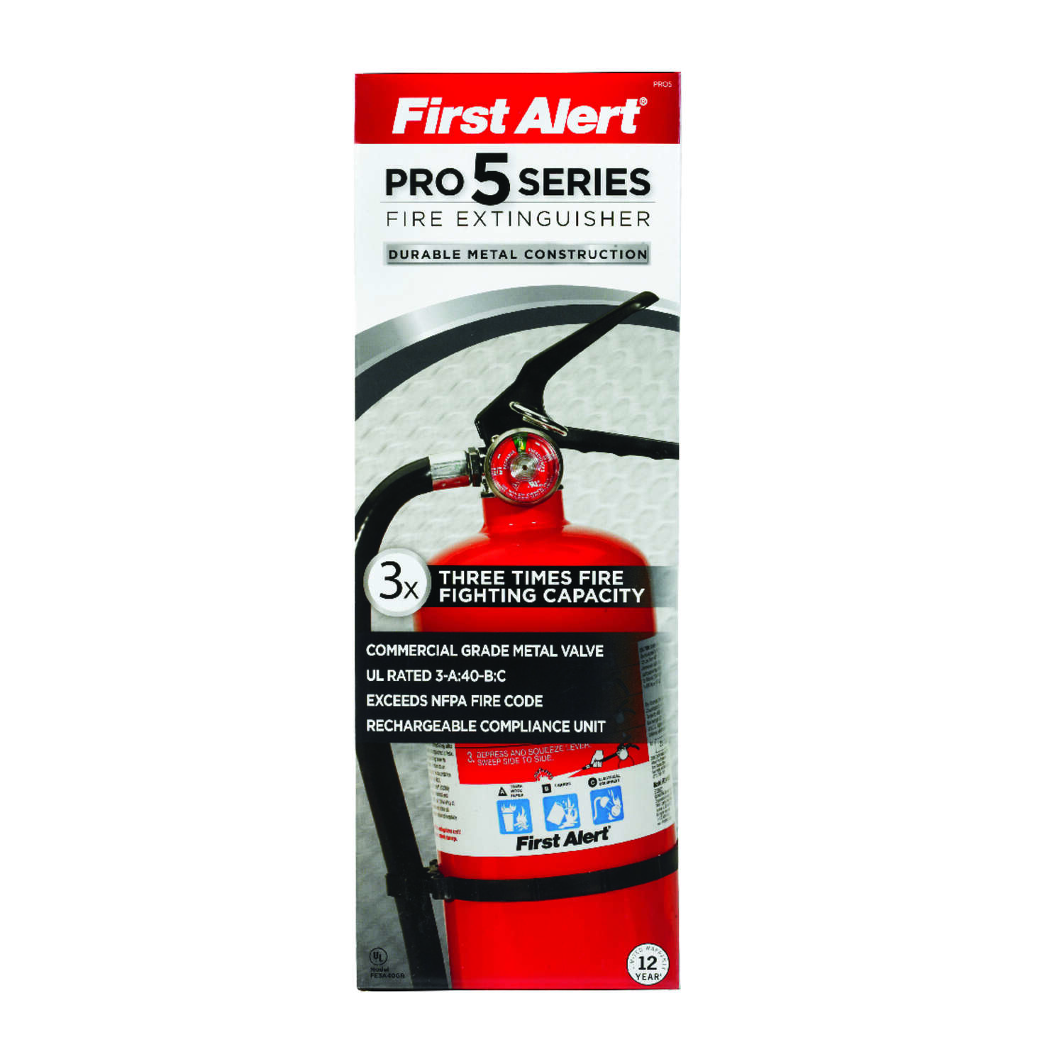 First Alert 5 lb. Fire Extinguisher For Household OSHA/US Coast Guard Agency Approval