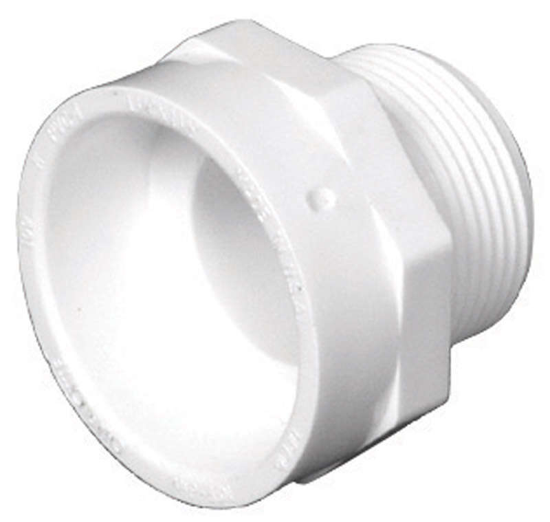 Charlotte Pipe  1-1/2 in. Hub   x 1-1/4 in. Dia. MPT  PVC  Pipe Adapter