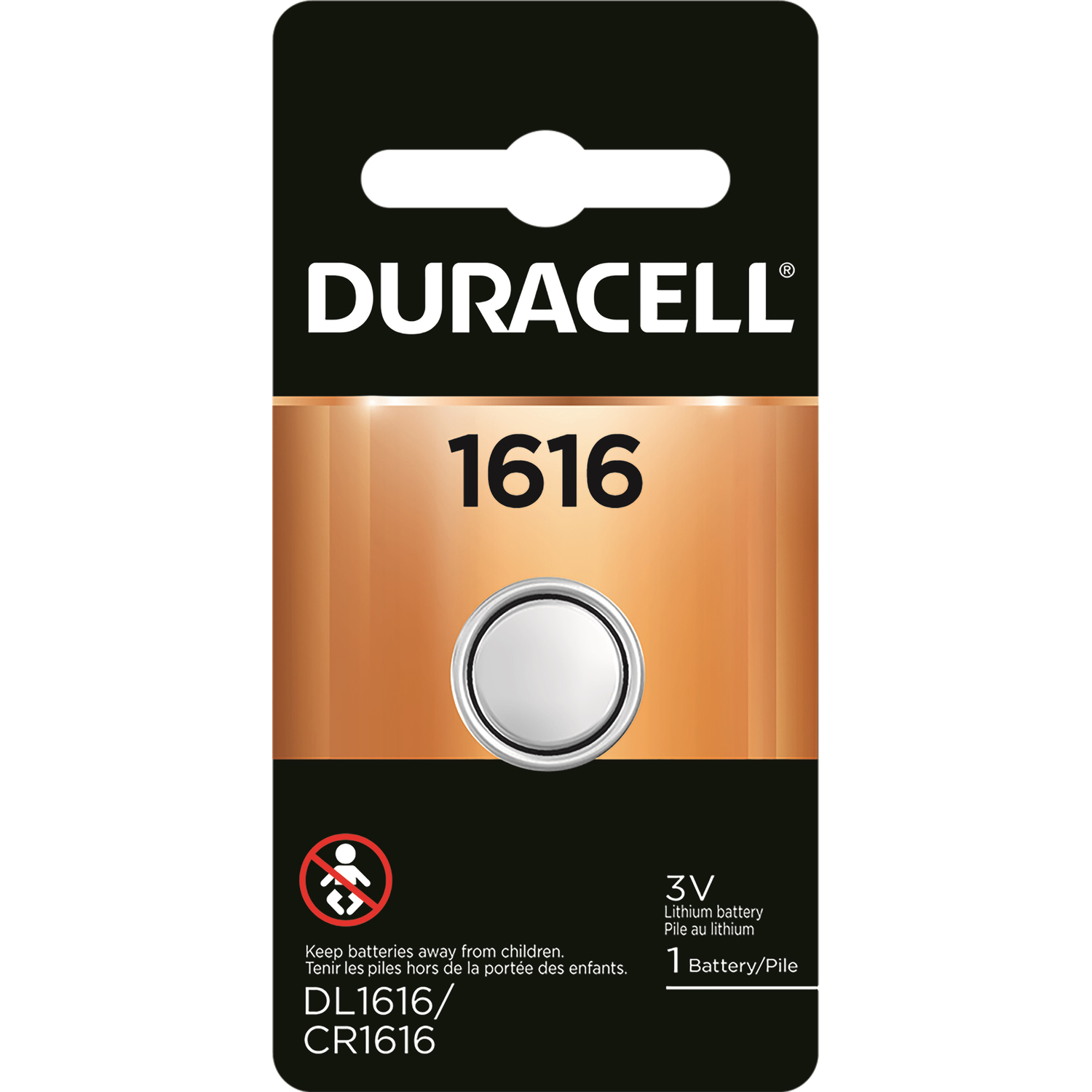 Duracell  1616  Lithium  Medical Battery  1 pk