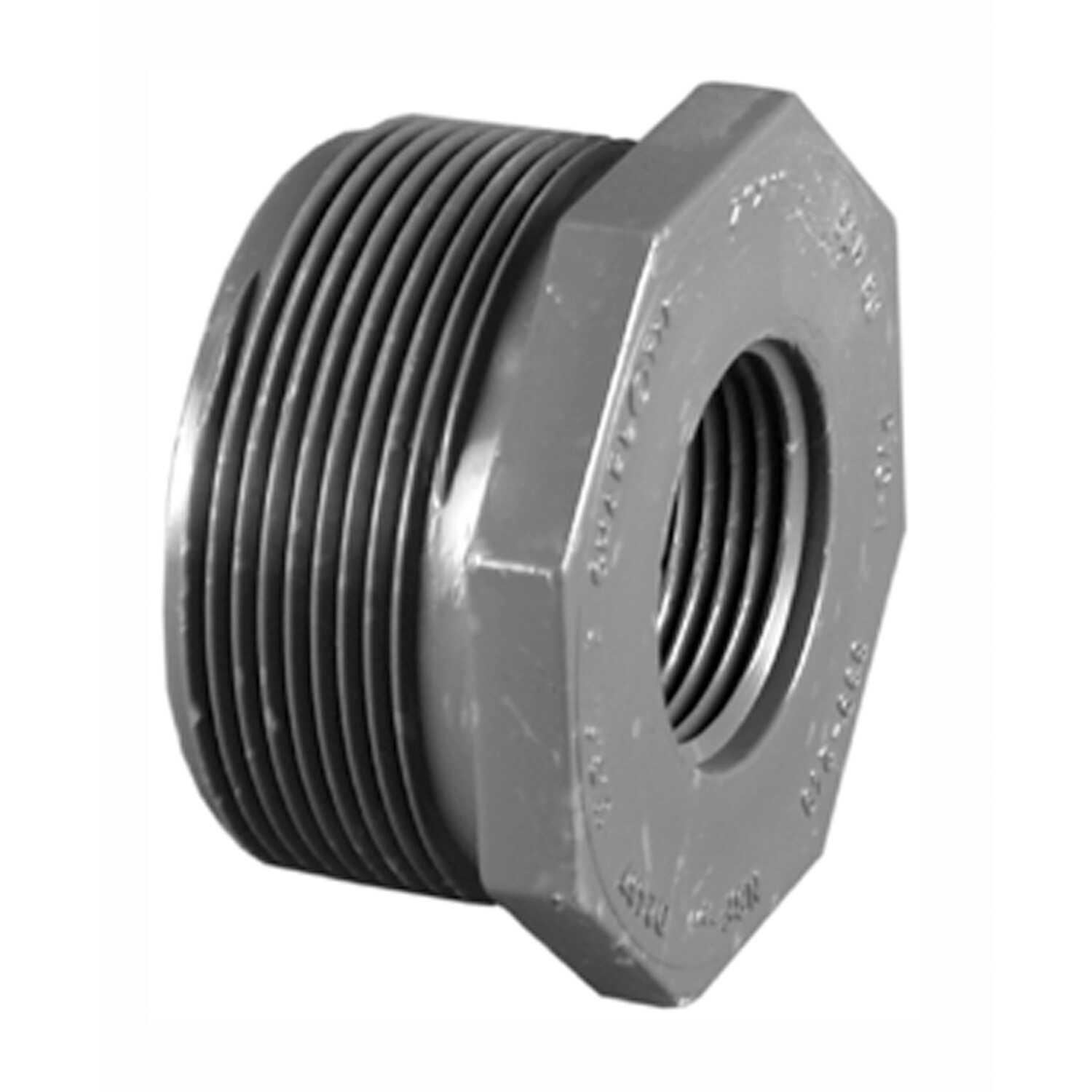 Charlotte Pipe  3/4 in. Dia. x 1/2 in. Dia. MPT To FPT  Schedule 80  PVC  Reducing Bushing