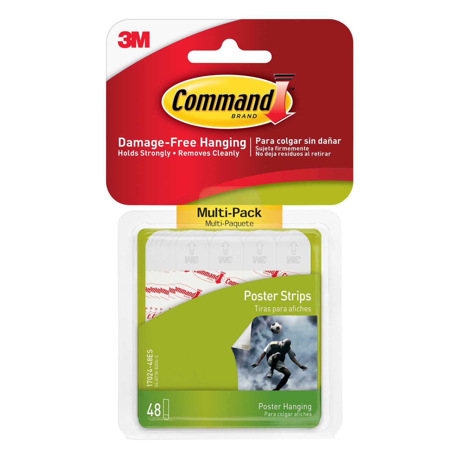 3M  Command  Small  Foam  Adhesive Strips  1-3/4 in. L 48 pk