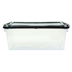 Homz  Latching  10.625 in. H x 16 in. W x 28.75 in. D Stackable Storage Box