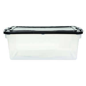 Homz  Latching  16 in. H x 10.625 in. D x 28.75 in. W Storage Box  Stackable