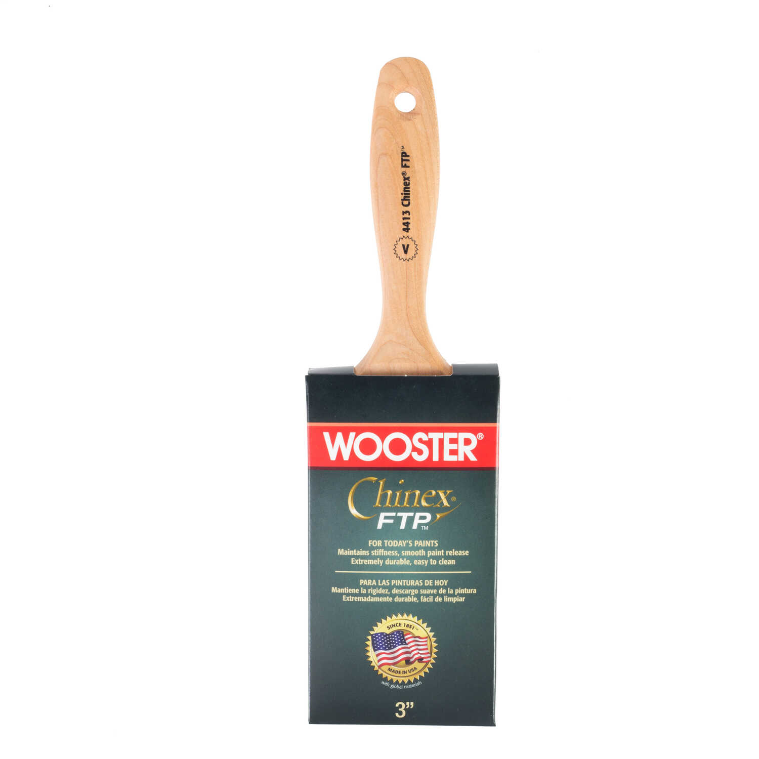 Wooster  Chinex FTP  3 in. W Flat  Paint Brush