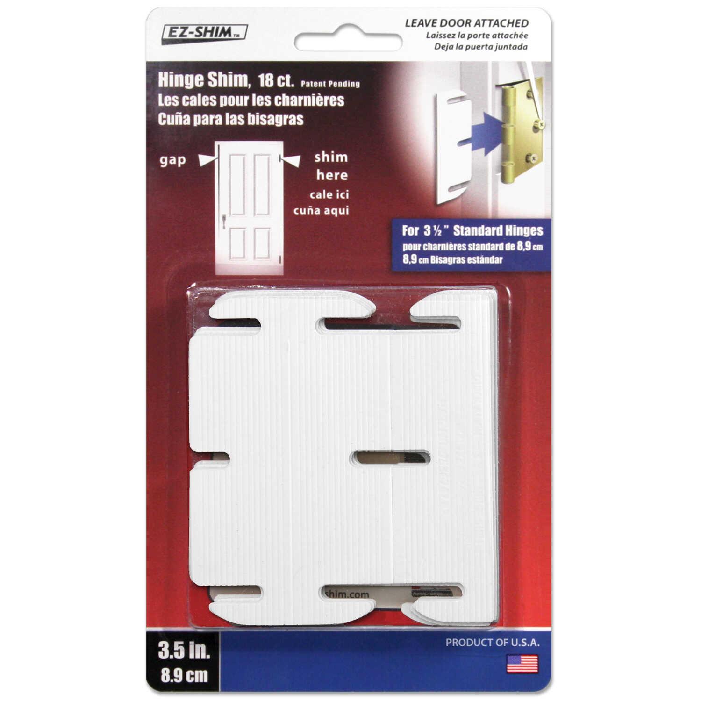 EZ SHIM 1 1 in  W x 3 5 in  L Plastic Hinge Shim 18 pk - Ace