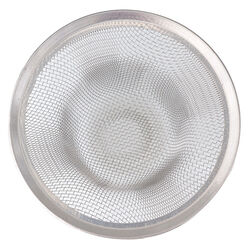Whedon  Drain Protector  3.5 in. Dia. Chrome  Stainless Steel  Shower Drain Strainer