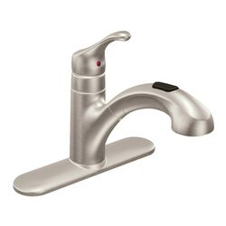Moen Renzo One Handle Stainless Steel Pull Out Kitchen Faucet