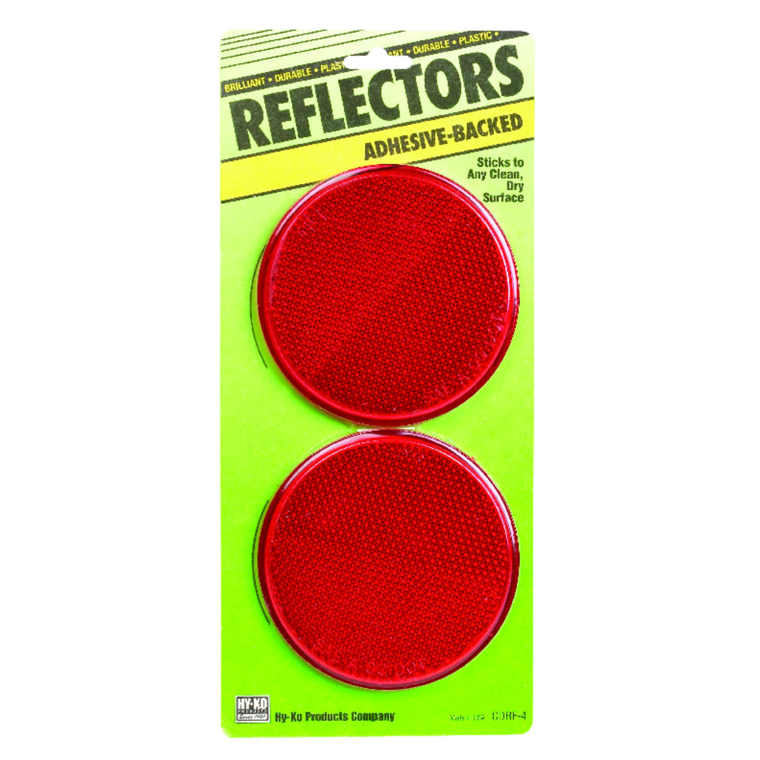 Hy-Ko  8.8 in. Round  Red  Reflectors  2