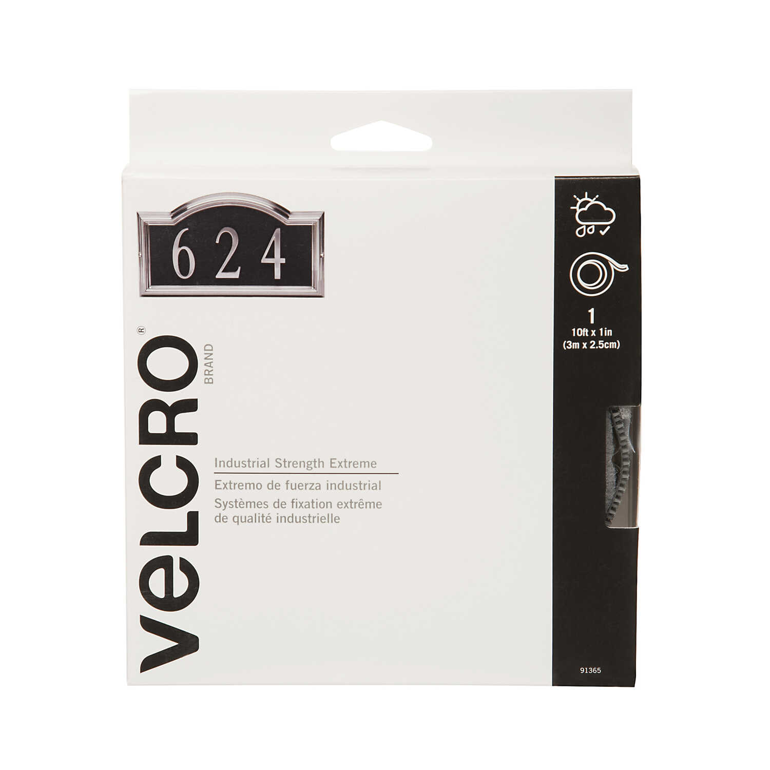 Velcro  Industrial Strength Extreme  Hook and Loop Fastener  1 pk 10 in. L