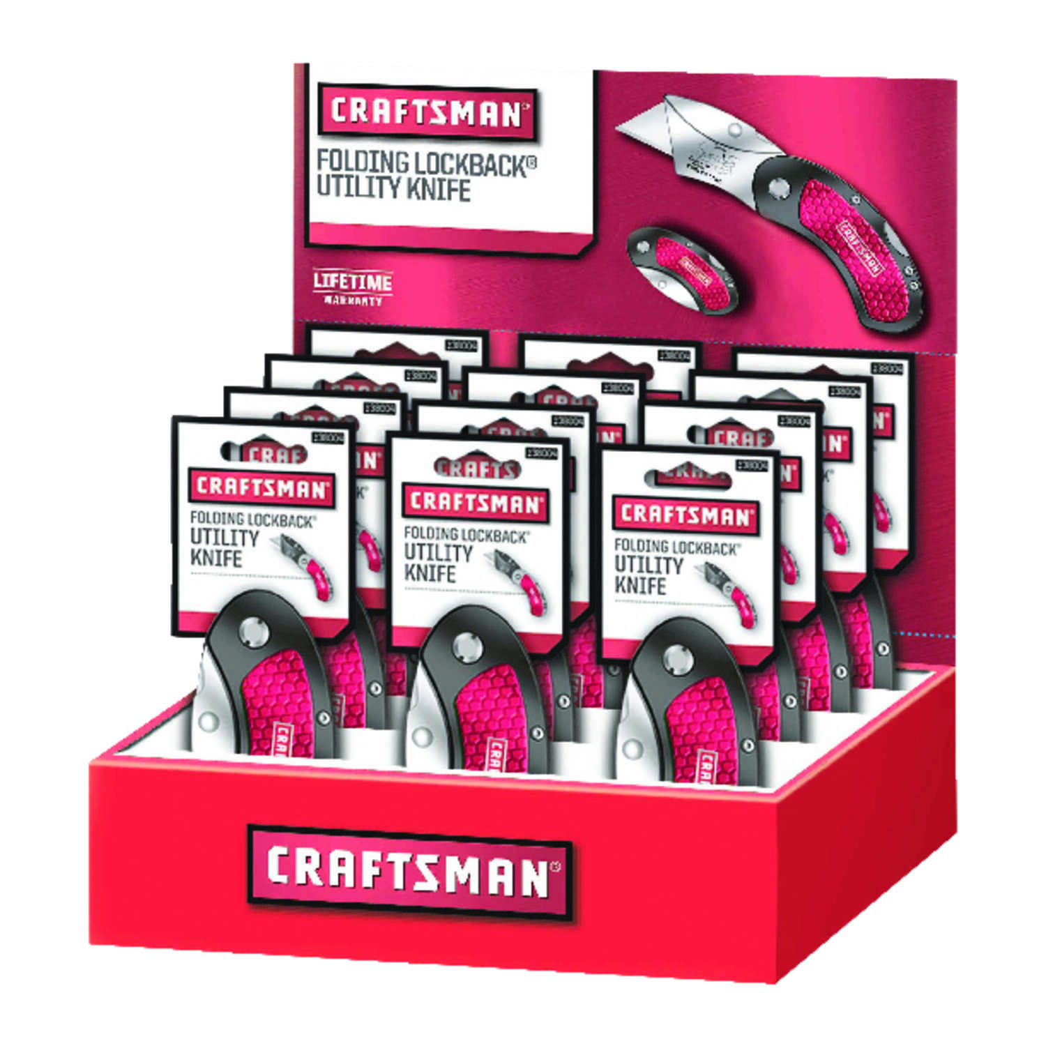 Craftsman  2.25 in. Folding  1 pk Red  Utility Knife