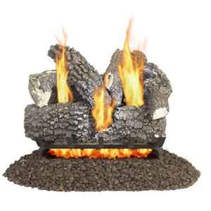 Pleasant Hearth Valley Oak  Valley Oak  Fireplace Log Set  33 lb.