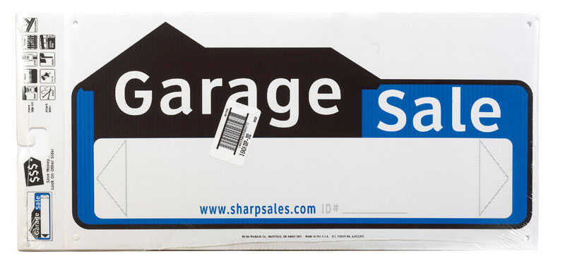 Hy-Ko  English  22 in. W x 10 in. H Plastic  Sign  Garage Sale