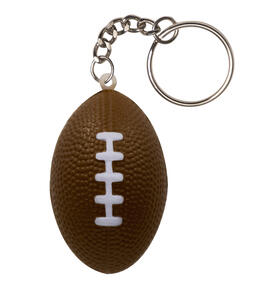 KeyGear  Rubber  Brown  Stress Ball, Pigskin  Key Chain