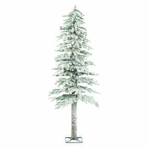 Holiday Bright Lights  Clear  Prelit 5 ft. Flocked  Artificial Tree  150 lights 475 tips