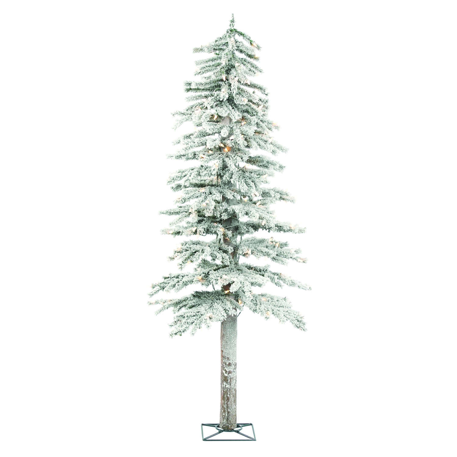 Holiday Bright Lights Clear 5 ft. Flocked Artificial Tree 150 lights ...