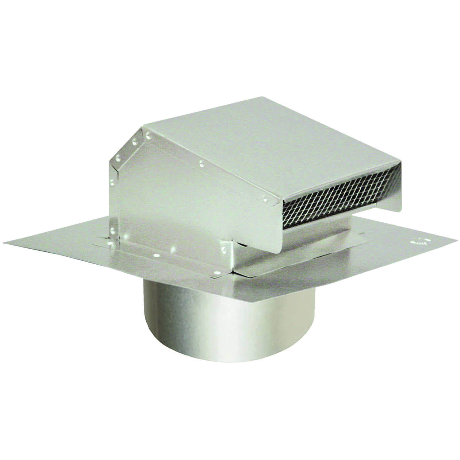 DeFlect-O  4 in. Dia. Aluminum  Roof Cap With Tailpipe