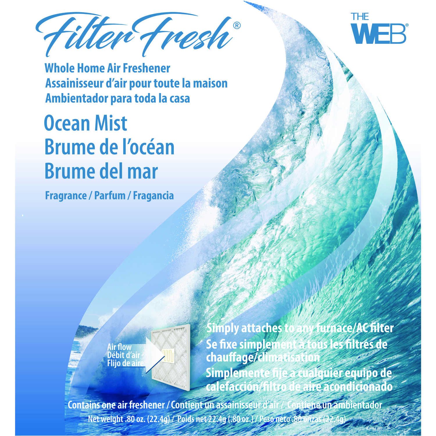 Web  Filter Fresh  Ocean Mist Scent Air Freshener  0.8 oz. Gel