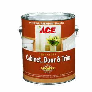 Ace  Semi-Gloss  White  Ready-Mix  Alkyd-Latex Hybrid  Cabinet and Trim Paint  Indoor  1 gal.