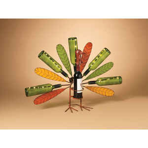 Gerson  Solar Wine Bottle Turkey  Lighted 23.75 in. H x 8 in. W x 31.75 in. L 1 each Fall Decoration