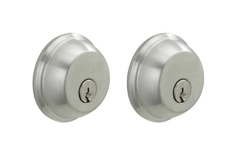Schlage  Satin Chrome  Zinc  Double Cylinder Deadbolt