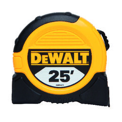 DeWalt  25 ft. L x 1.125 in. W Tape Measure  Black/Yellow  1 pk