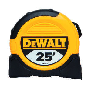 DeWalt  25 ft. L Tape Measure  Yellow