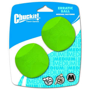Chuckit!  Green  Erratic Bounce  Rubber  Medium  Bounce Ball