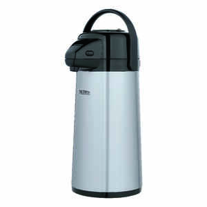 Thermos  Black/Silver  Stainless Steel  Carafe