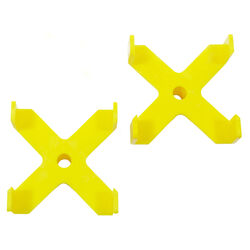 Centipede  2 in. H x 4 in. D X-Cups  Yellow  2 pk