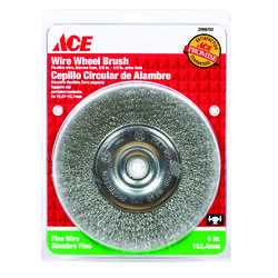 Ace  6 in. Fine  Crimped  Wire Wheel Brush  Steel  3750 rpm 1 pc.