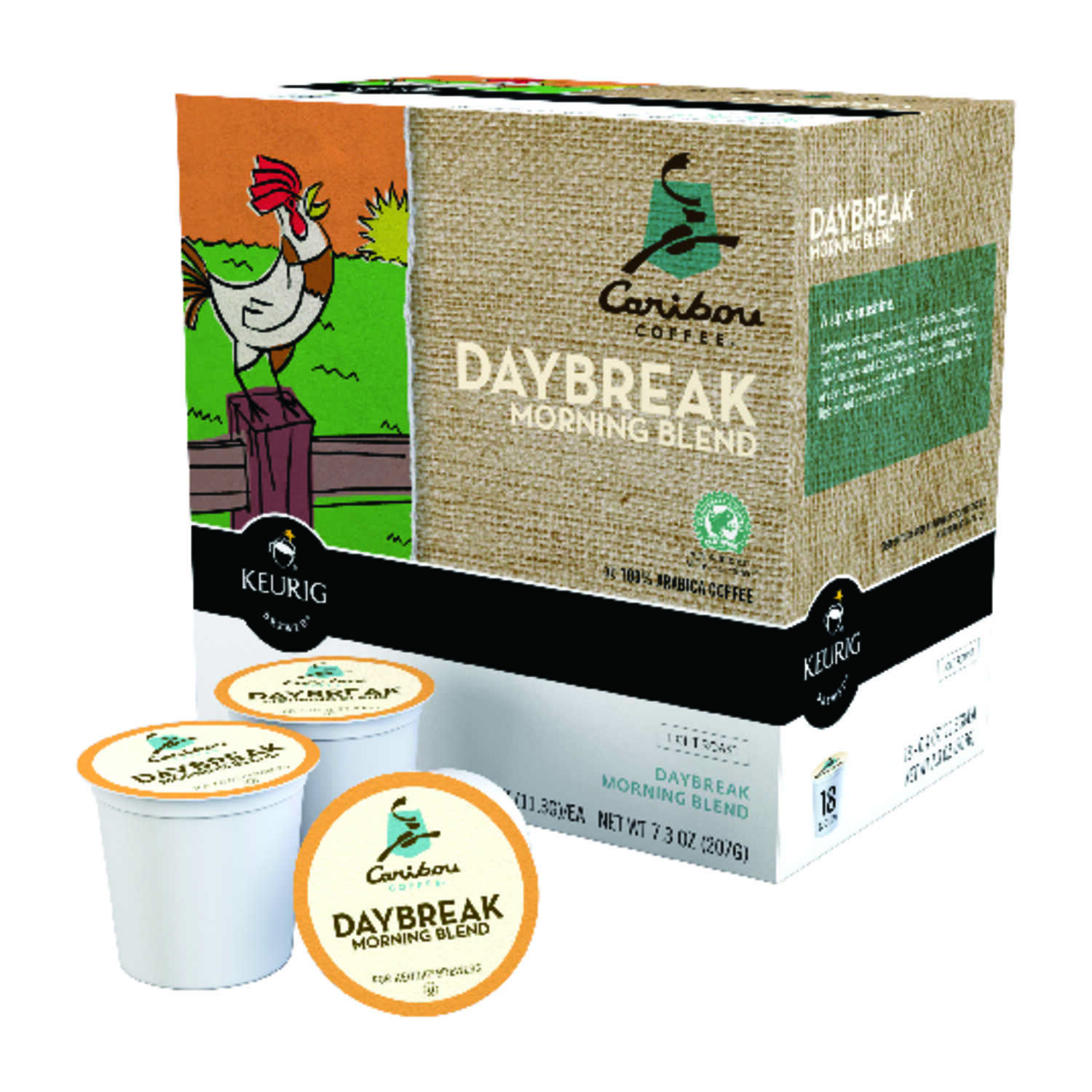 Keurig  Caribou Coffee  Daybreak A.M.  Coffee K-Cups  18 pk