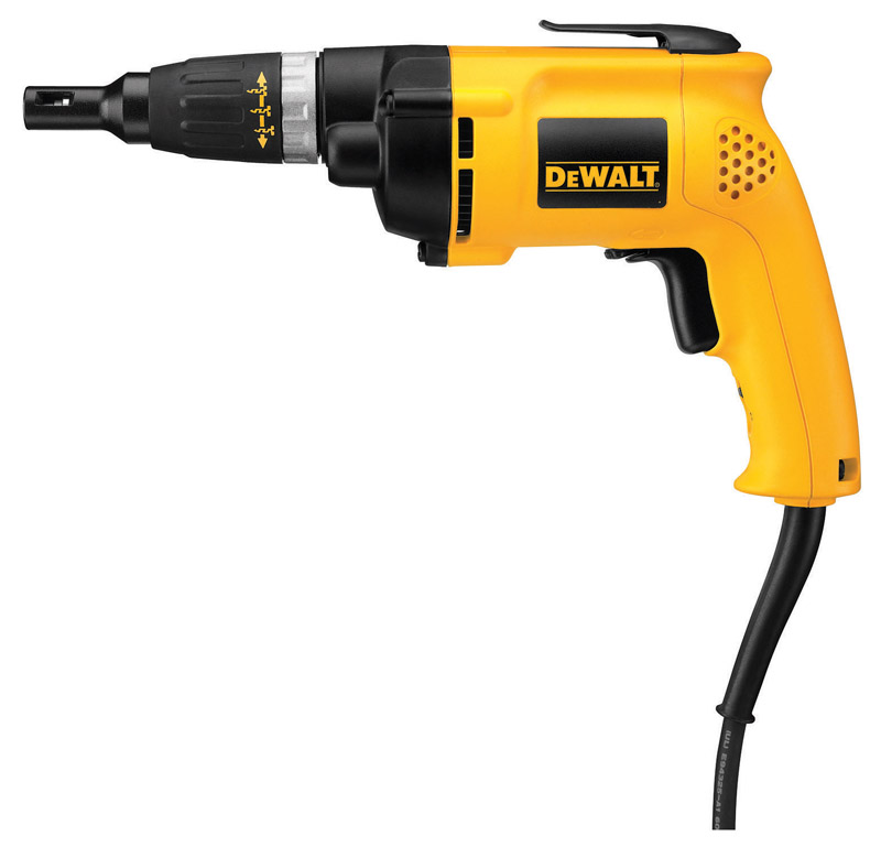 DeWalt  VSR  1/4  Corded  Keyless  Drywall/Deck Screwdriver  2500 rpm 6.2 amps 1 pc.