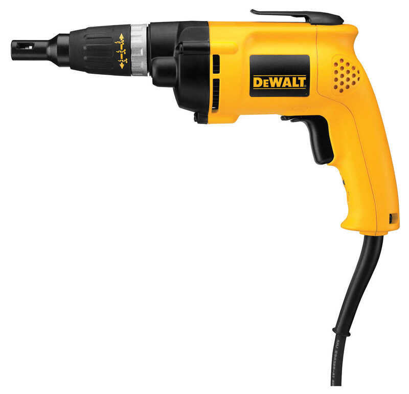 DeWalt  VSR  1/4  Corded  Keyless  Drywall/Deck Screwdriver  6.2 amps 2500 rpm 1 pc.