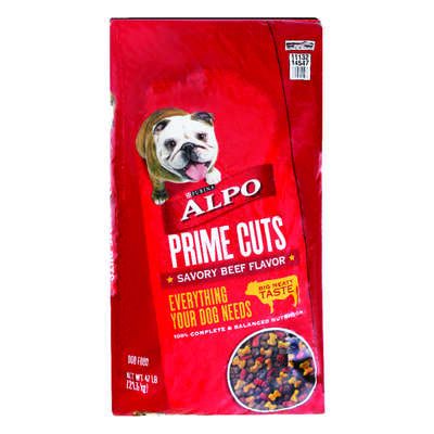 Purina  Alpo Prime Cuts  Savory Beef  Dry  Dog  Food  52 lb.