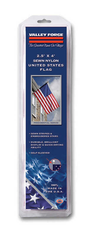 Valley Forge  American  2-1/2 ft. H x 48 in. W Flag