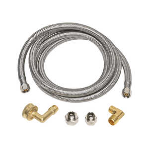 Ace  3/8 in. Compression   x 3/8 in. Dia. MIP  Stainless Steel  48 in. Supply Line