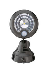 Mr. Beams  Motion-Sensing  Battery Powered  Black  Plastic  Spotlight