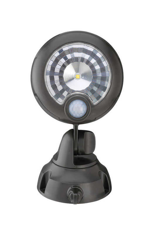 Mr. Beams  Plastic  Motion-Sensing  Spotlight  Black  Battery Powered