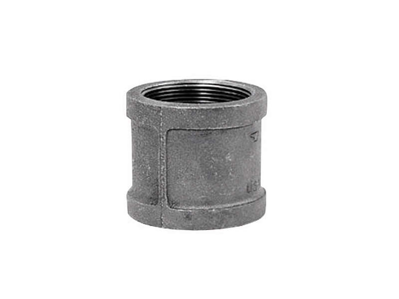 Anvil  3/8 in. FPT   x 3/8 in. Dia. FPT  Black  Malleable Iron  Coupling